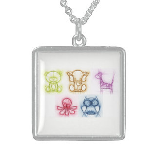Animal Colors Sterling Silver Necklace