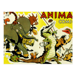 Animal Comics Postcard