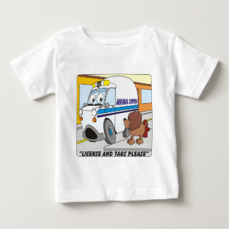 Animal Control Cartoon Baby T-Shirt