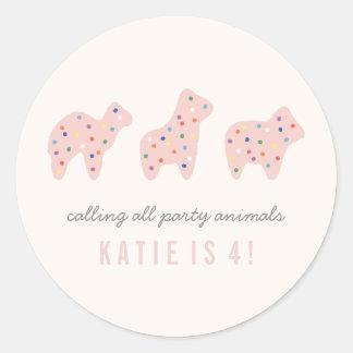 Animal Cookie Sticker - Bubblegum