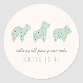 Animal Cookie Sticker - Mint