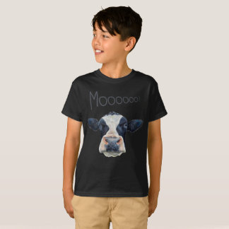 Animal Cow Face Kid's Basic Dark T-Shirt