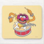 Animal Crashing Through Drums Mousepads