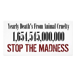 Animal Cruelty Statistics Card Personalised Photo Card