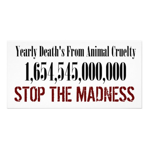 Animal Cruelty Statistics Card Photo Cards