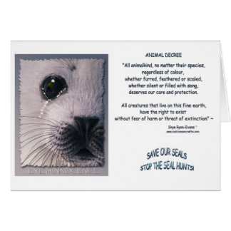 """ANIMAL DECREE"" Cards"