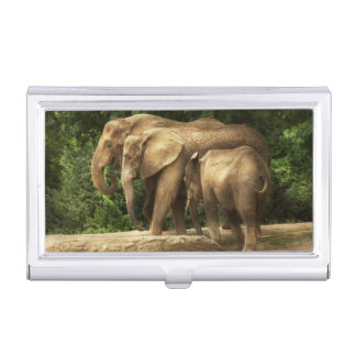 Animal - Elephant - Tight knit family Case For Business Cards