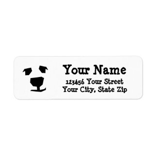 Animal Face Polar Bear, Dog Return Address Label