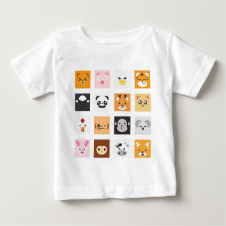 Animal Faces Baby T-Shirt