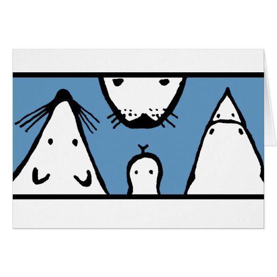 Animal Faces Card
