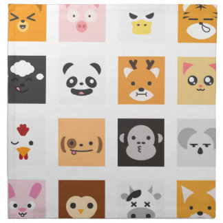 Animal Faces Napkin