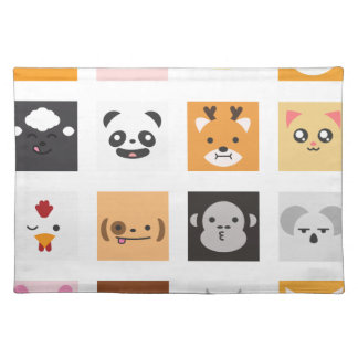 Animal Faces Placemat