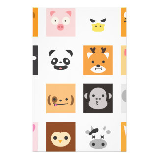 Animal Faces Stationery