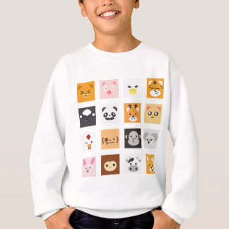 Animal Faces Sweatshirt