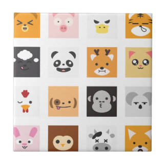 Animal Faces Tile