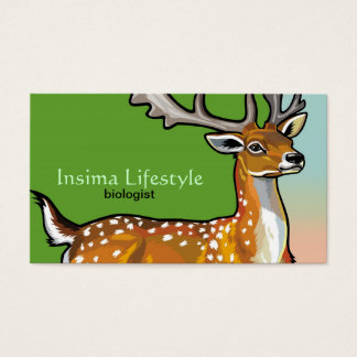 animal fallow deer business card