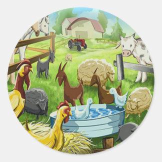 Animal Farm Classic Round Sticker