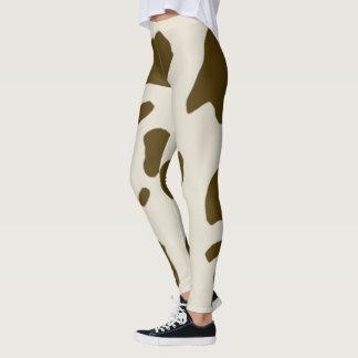 Animal Faux Brown Cow Skin Leggings