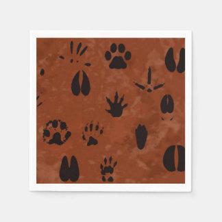 Animal Footprint Napkins Paper Napkin