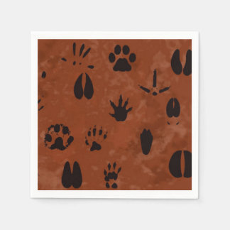 Animal Footprint Napkins Paper Serviettes