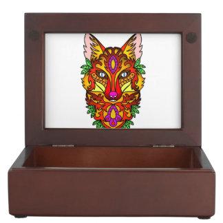 Animal Fox Keepsake Box