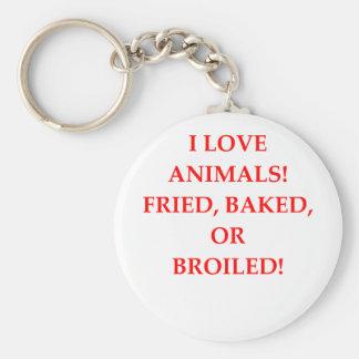 animal hater basic round button key ring