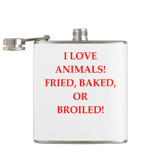 animal hater hip flask