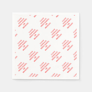 animal hater paper napkin