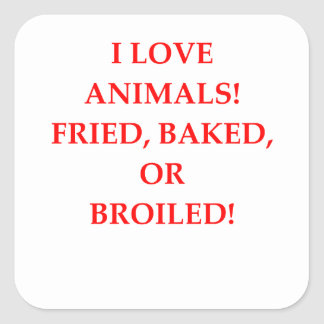 animal hater square sticker