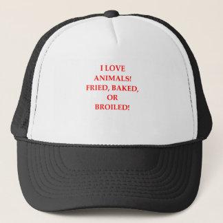 animal hater trucker hat
