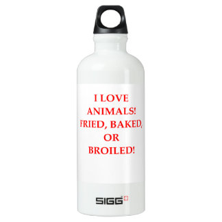 animal hater water bottle