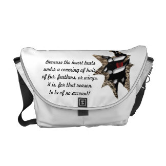 Animal Heart Messenger Bag