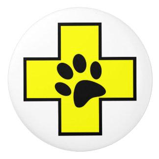 animal help cross veterinary symbol sign doctor pe ceramic knob