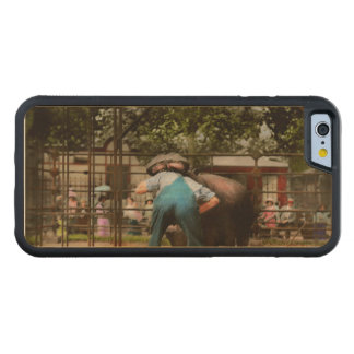 Animal - Hippo - Stupid human tricks 1910 Carved Maple iPhone 6 Bumper Case
