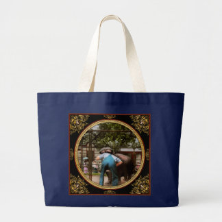 Animal - Hippo - Stupid human tricks 1910 Large Tote Bag