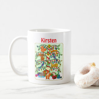 Animal Holiday Tree of Life Custom Name Christmas Coffee Mug