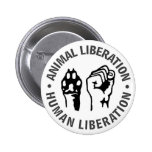 Animal & Human Liberation 6 Cm Round Badge