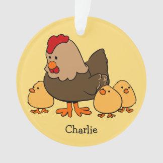 Animal illustrations custom name kid's ornament