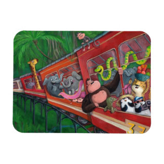 Animal Jungle Train Magnets