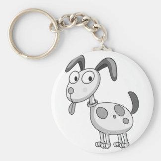 Animal Basic Round Button Key Ring