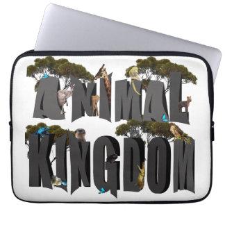 Animal Kingdom Logo With Animals, 13 inch Laptop Sleeve