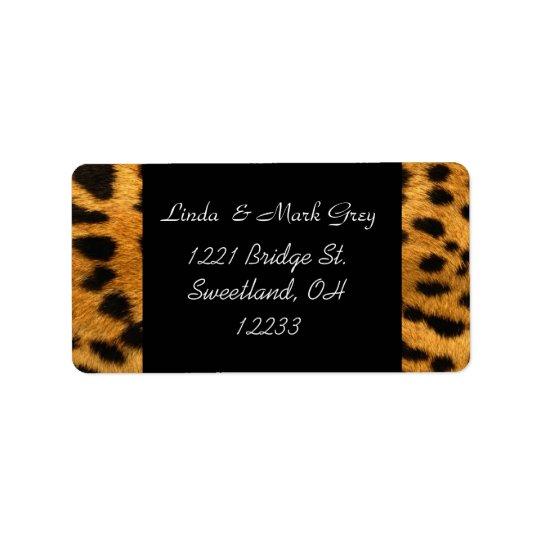 Animal Leopard Print Address Label