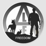 Animal Liberation Front Freedom Stickers