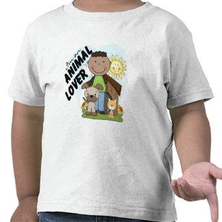 Animal Lover African American Boy Tshirts