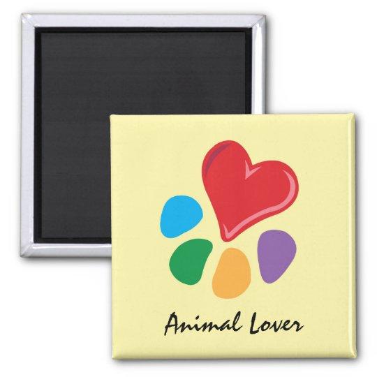 Animal Lover_Heart-Paw Magnet