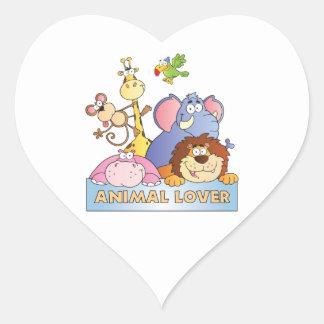 Animal Lover Heart Sticker