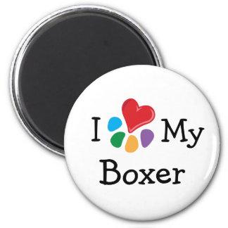 Animal Lover_I Heart My Boxer 6 Cm Round Magnet