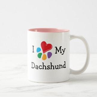 Animal Lover_I Heart My Dachshund Two-Tone Mug