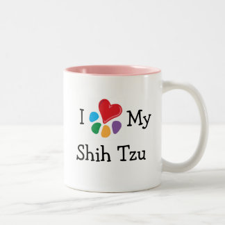 Animal Lover_I Heart My Shih Tzu Two-Tone Coffee Mug