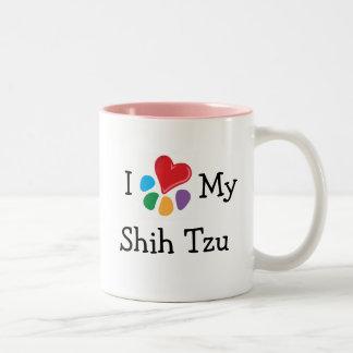 Animal Lover_I Heart My Shih Tzu Two-Tone Mug